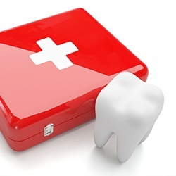 emergency kit and tooth