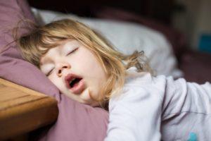A child snoring.