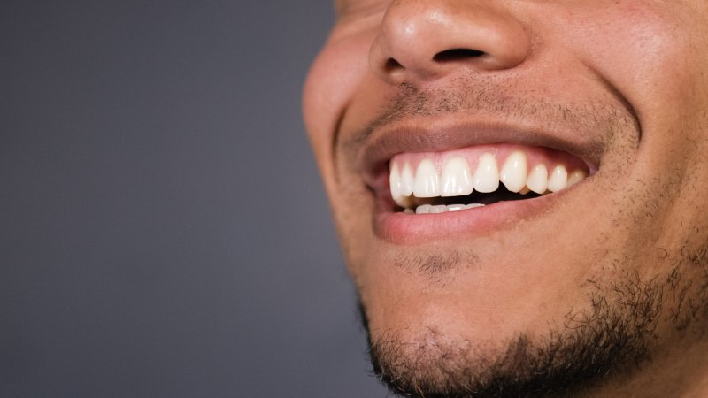 Man with straight teeth